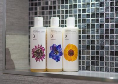 Bramley shower gel, shampoo, conditioner and soap
