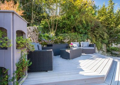 Private elevated terrace