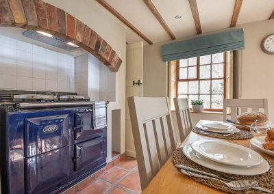 Dining area with Aga