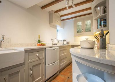 Well equipped galley kitchen
